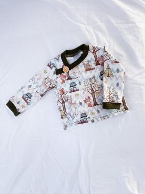Sofortkauf Handmade Longsleeve Waldtiere Gr von
