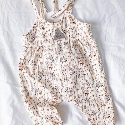 Bestellung Handmade Baby-Jumper Braune Blüten Gr
