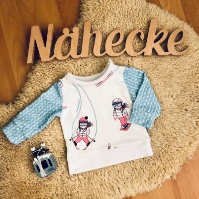 Sofortkauf Handmade Pullover mit Bündchen Skimädchen