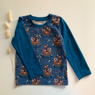 Sofortkauf Handmade Piraten Langarmshirt Gr Genäht