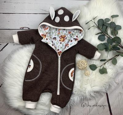 Handmade Walklodenanzug Rehkitz von Gines Design
