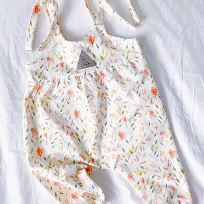 Bestellung Handmade Baby-Jumper Aquarell-Blüten Gr 56-74
