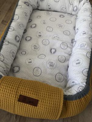 Handmade Babynestchen Senf/graue Tiere Handmade JA