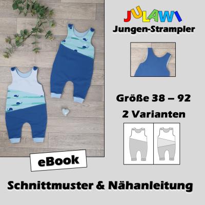Schnittmuster/Nähanleitung Jungen-Strampler Gr 38-92 JULAWI eBook: