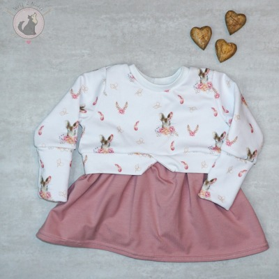 Sofortkauf Handmade Girlysweater Blumenhase Gr Wolf