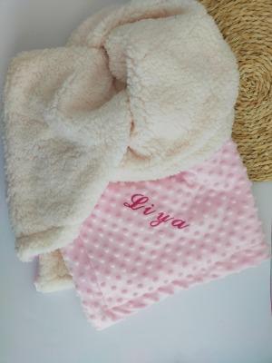 Handmade Babydecke 80 80 cm mit Wunschpersonalisierung