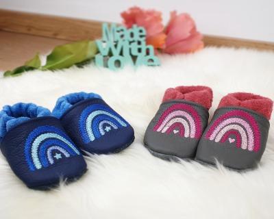 Bestellung Handmade Lederpuschen Gr 18-27 Wunschgröße