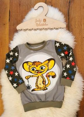 Sofortkauf Handmade Leopard/Sterne Langarmshirt Gr Sindys