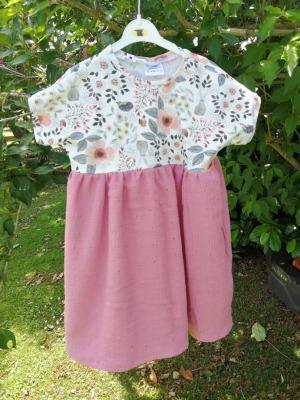 Sofortkauf Handmade Jersey/Musselin Kleid Gr 98/104