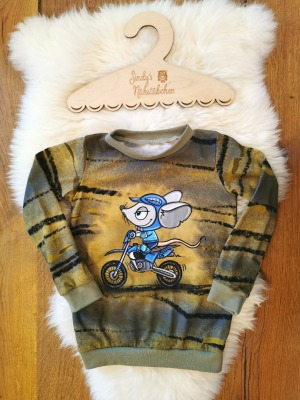 Sofortkauf Handmade Motorrad Maus Langarmshirt Gr