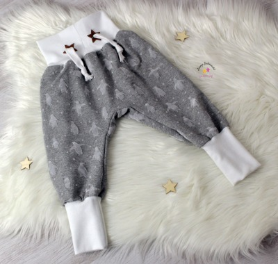 Sofortkauf Handmade Pumphose Pinguine grau mit