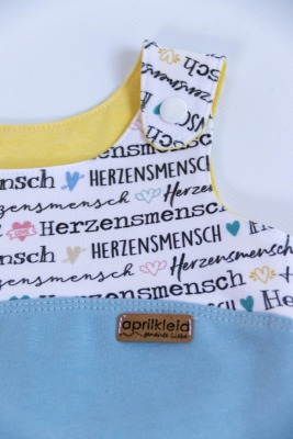 Sofortkauf Handmade Strampler Herzensmensch Gr 62/68