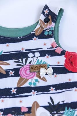 Sofortkauf Handmade Strampler bunte Blumen Gr