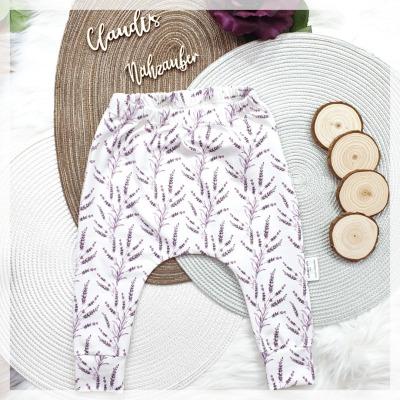 Sofortkauf Handmade Lavendel Slimharem-Pants Gr 68/74