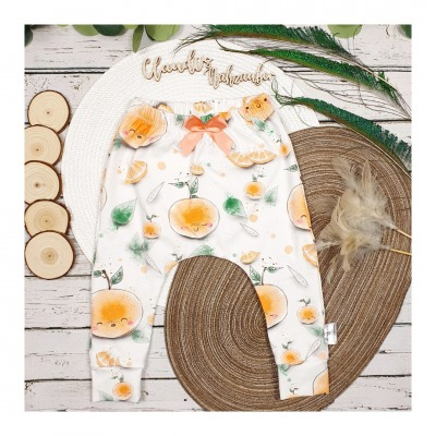Sofortkauf Handmade Orangen SlimHarem-Pants Gr 74/80