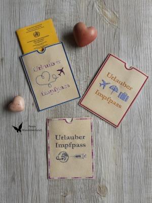 Handmade Impfpasshülle Annes Wunderwerkstatt - Impfpasshülle