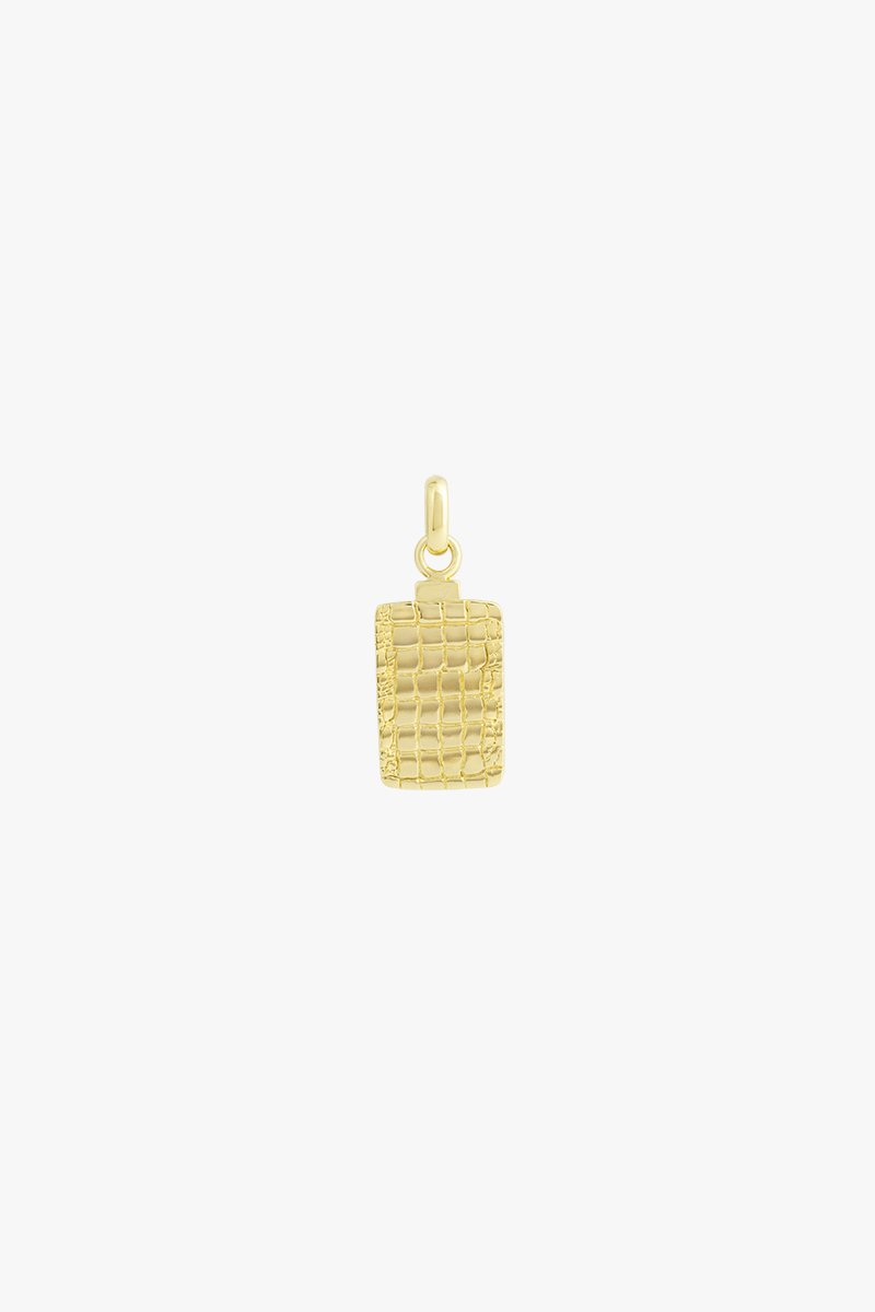 wildthings collectables Crocodile skin pendant gold