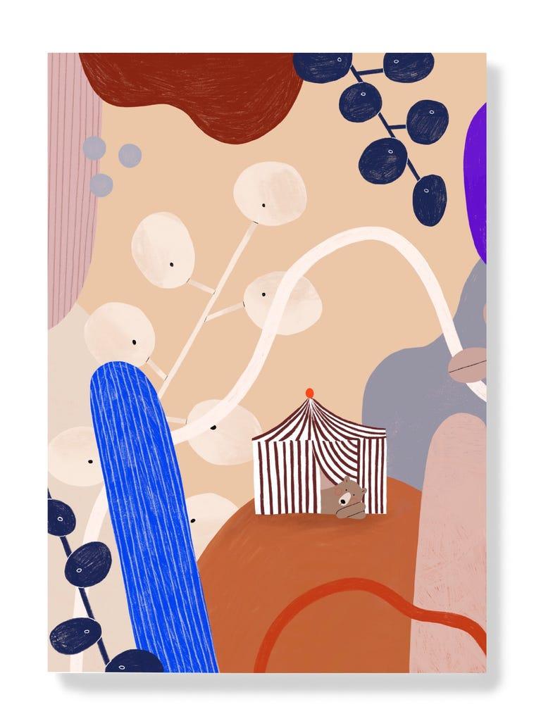 Postkarte - Zirkus Bär