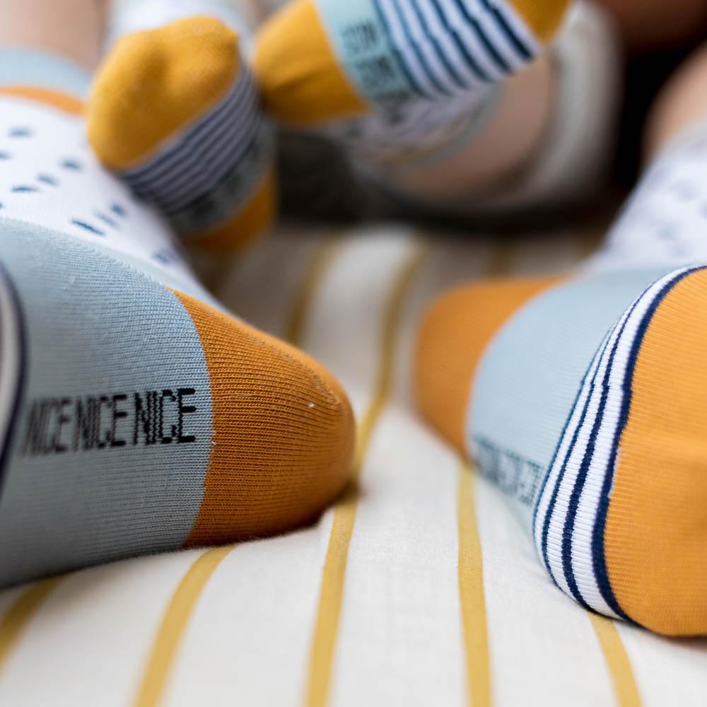 nice socks - freckles blue - 2