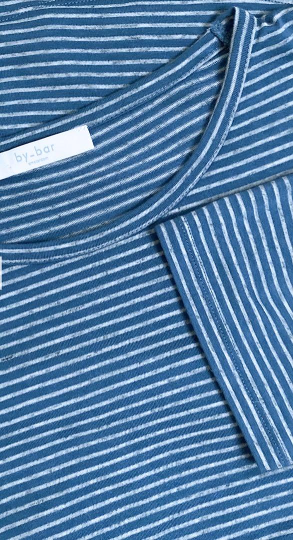 maya melange stripe top indi grey