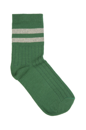 sparkle stripe sock - green
