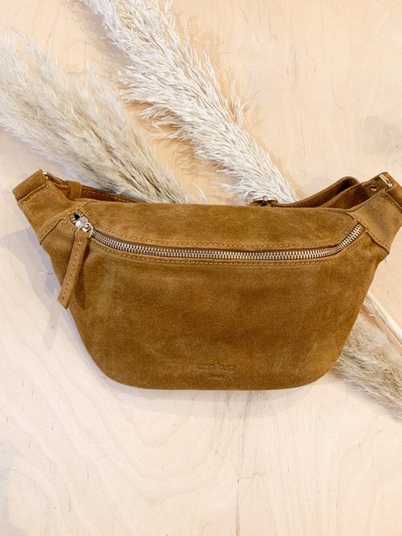 Fanny Suede Pearl Wood Bauchtasche