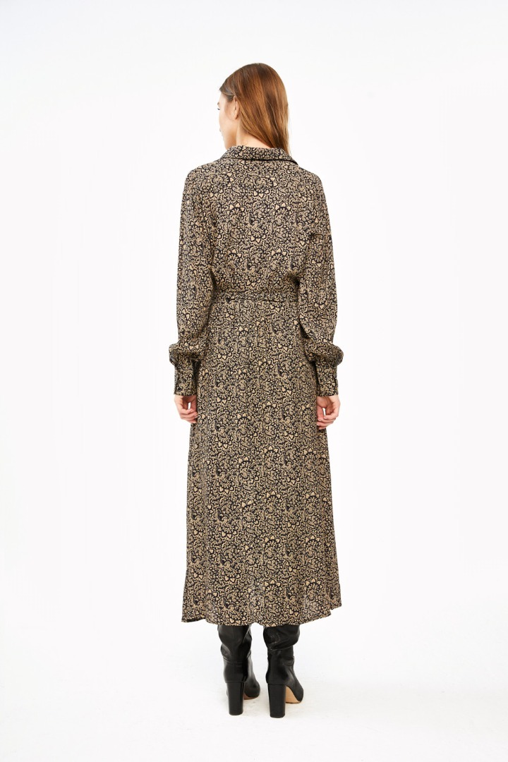 yara paisley dress - black 3
