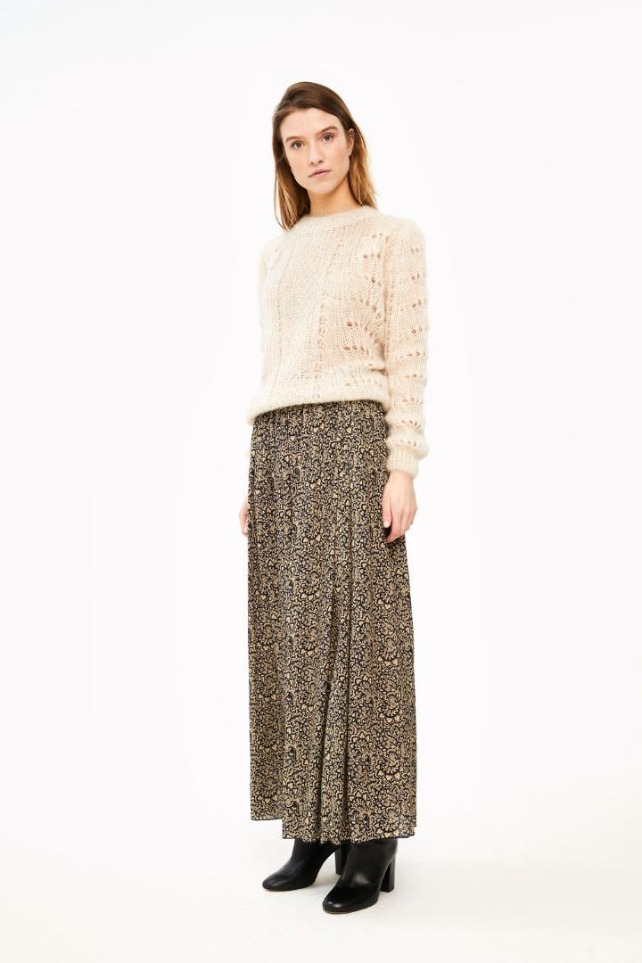 linde paisley skirt - black