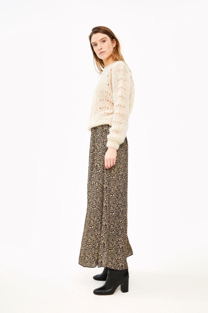linde paisley skirt - black 3