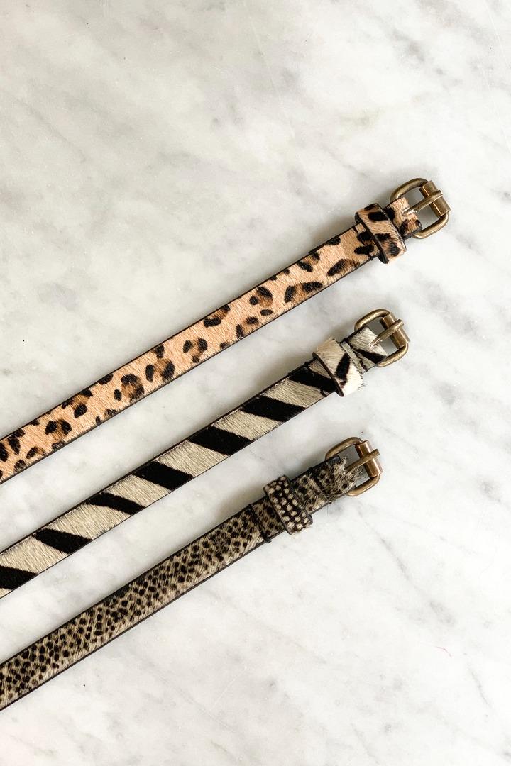 by-bar hair belt - leopard 2