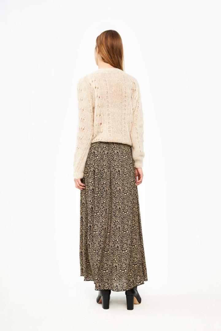 linde paisley skirt - black 2