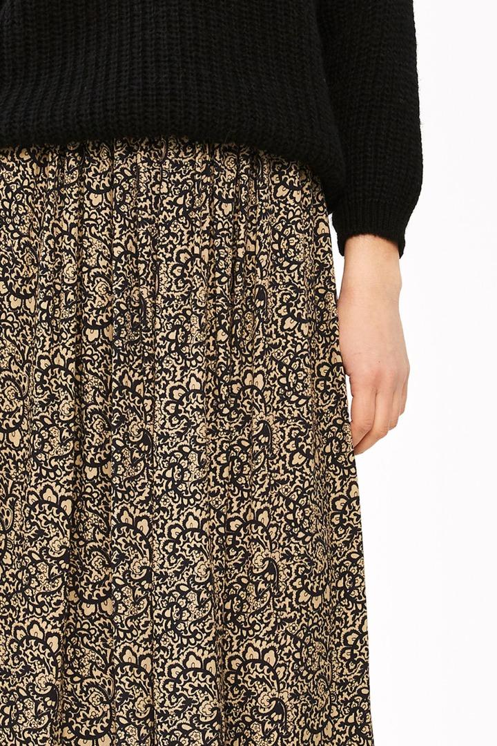 linde paisley skirt - black 7