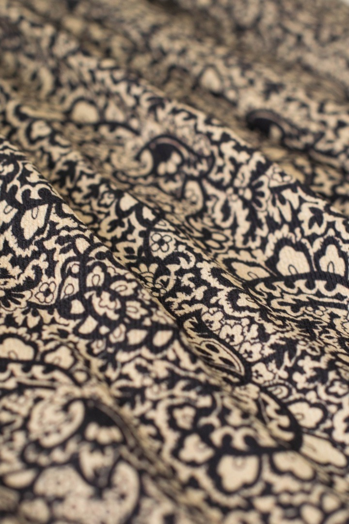 linde paisley skirt - black 5