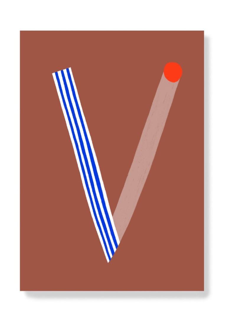 Postkarte - V