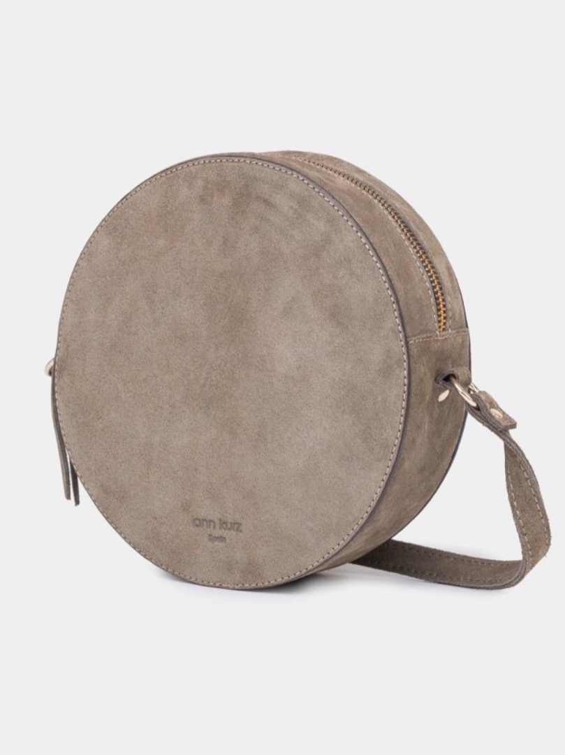 Pia Olive Circle Bag Suede Olive