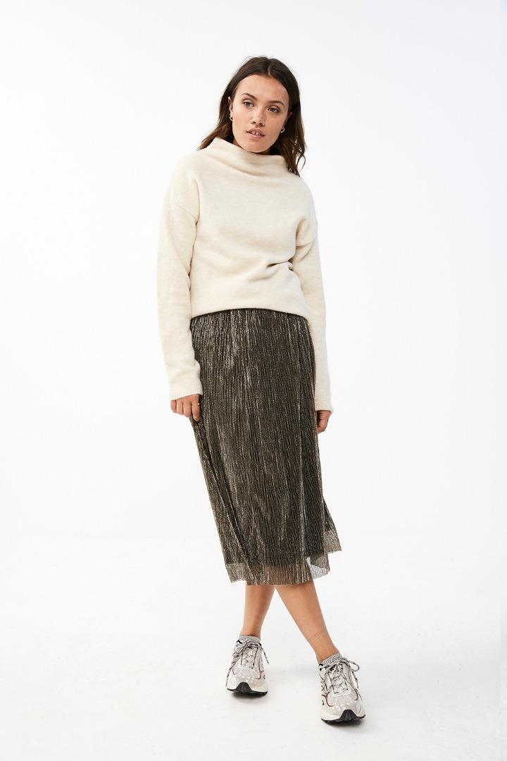 isabelle long skirt - gold 6