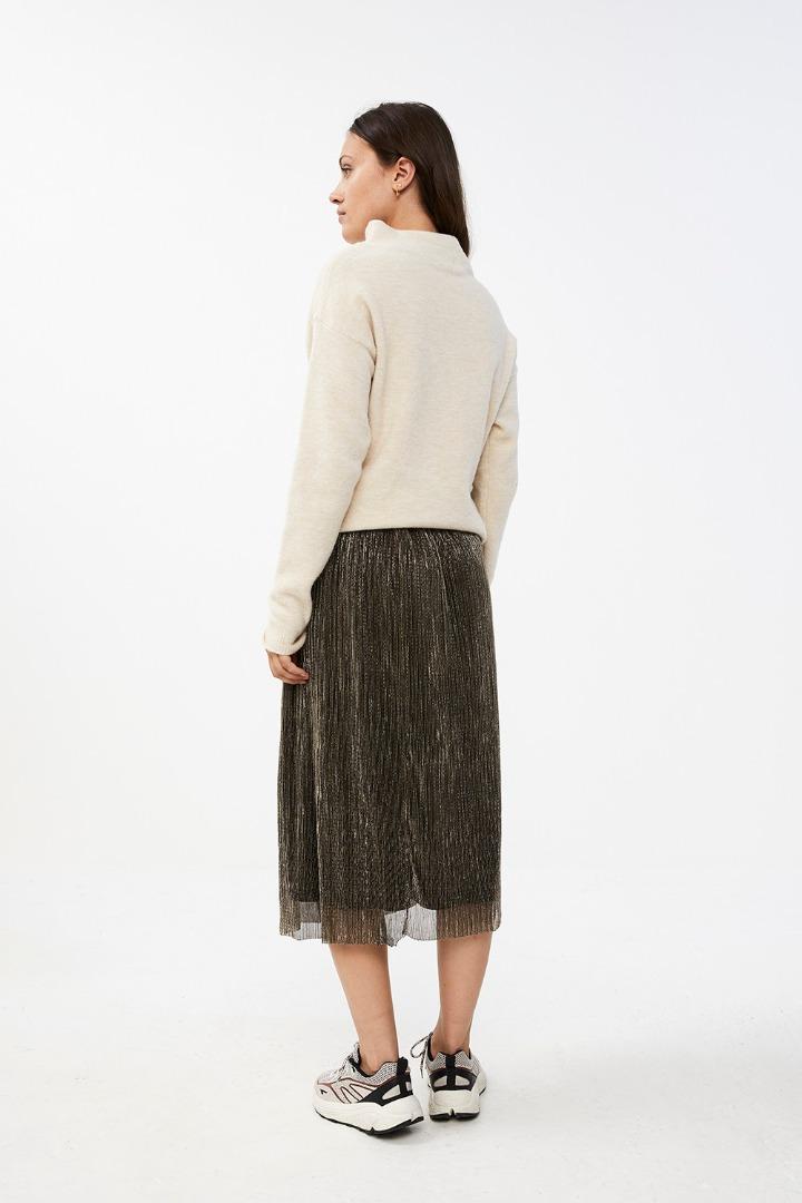 isabelle long skirt - gold 4