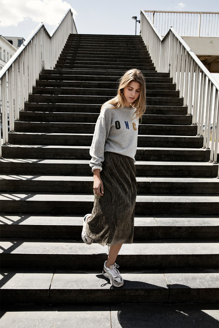 isabelle long skirt - gold 3