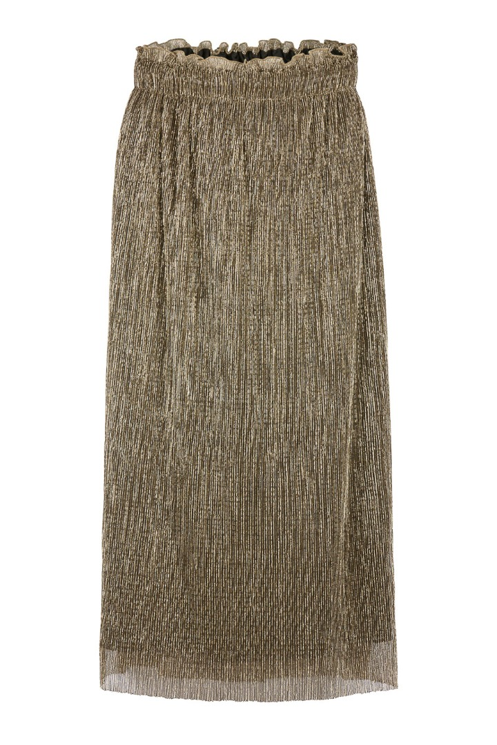isabelle long skirt - gold 2