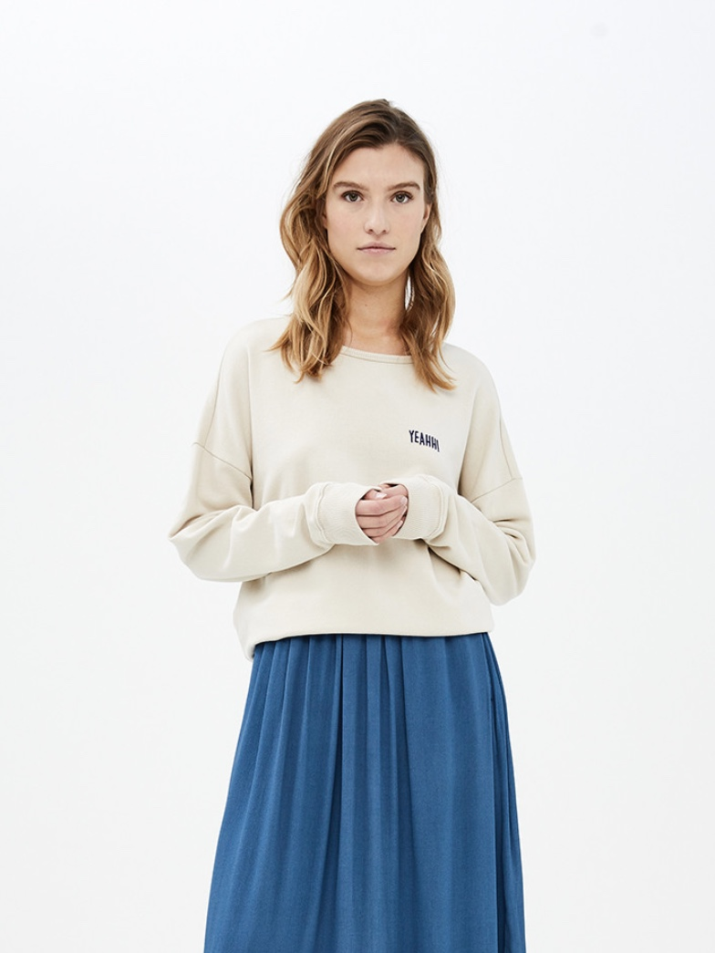 becky sweater at - linen