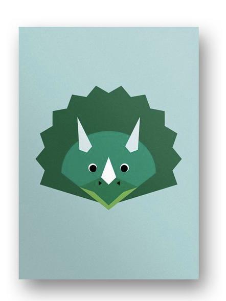 Postkarte Dinosaurier