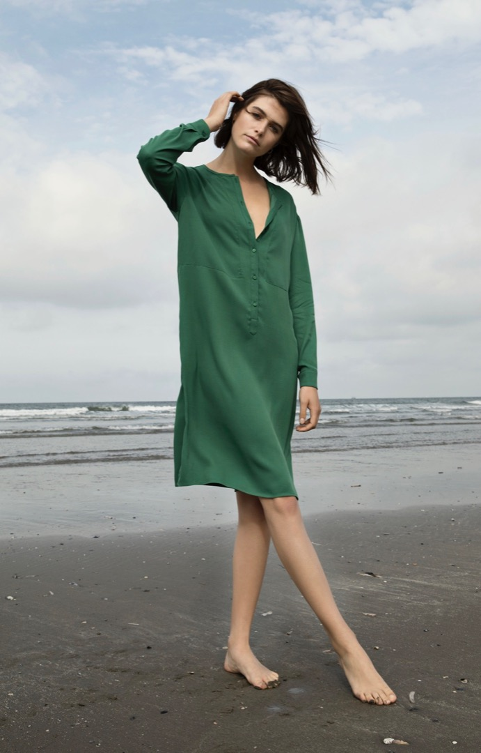 bella twill dress - agave 4