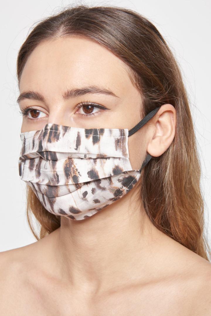 Mund-Nasen-Maske - Black / Grey Pattern