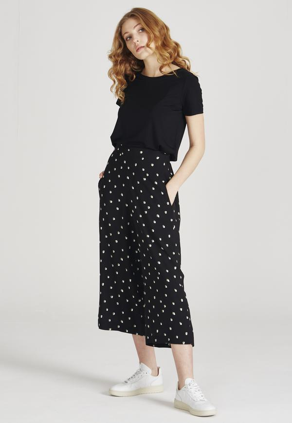 Givn - Anna Trousers - Black/Mint/Off