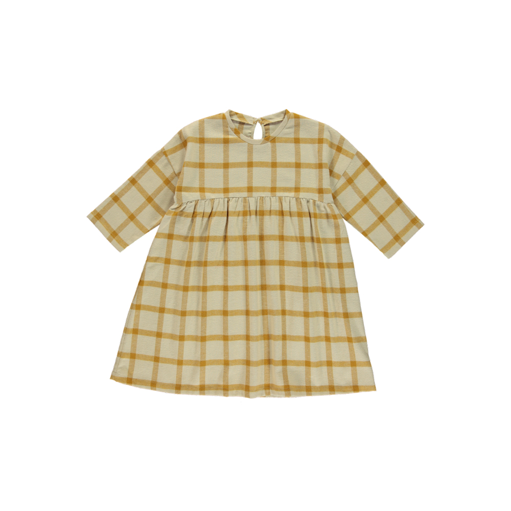 Monkind Mustard Cheek Oversized Dress Kids