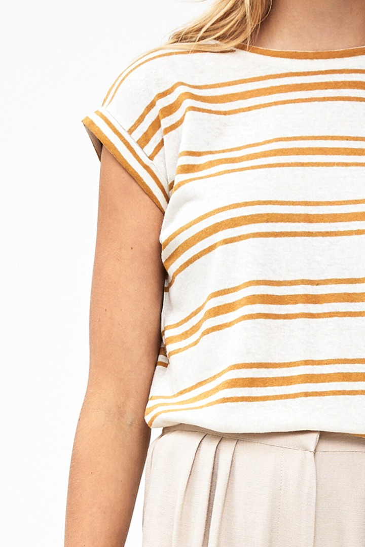 by-bar - thelma stripe Top harvest