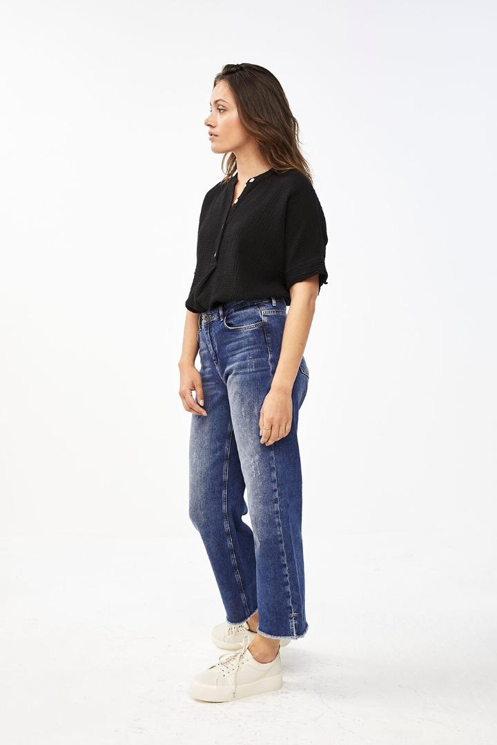 by-bar nanci blouse - jet black