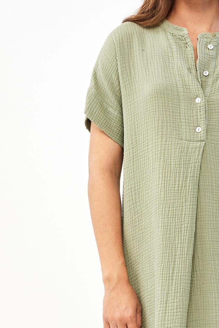 by-bar otty dress - bright olive