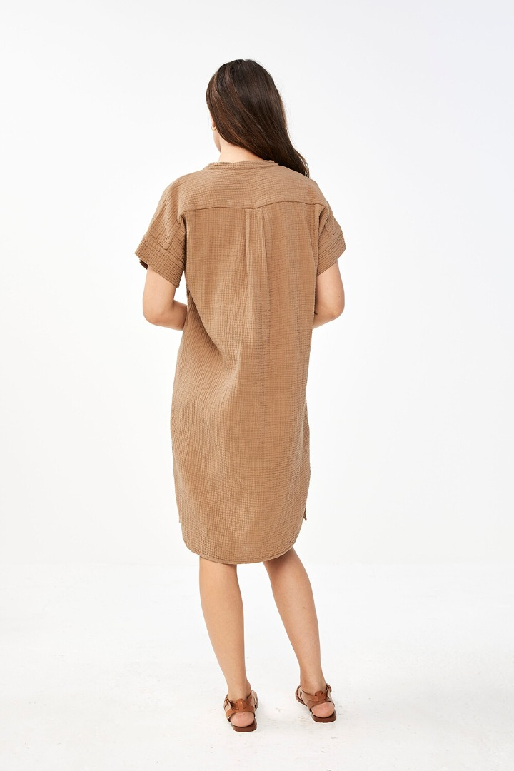 by-bar otty dress - coffee 2