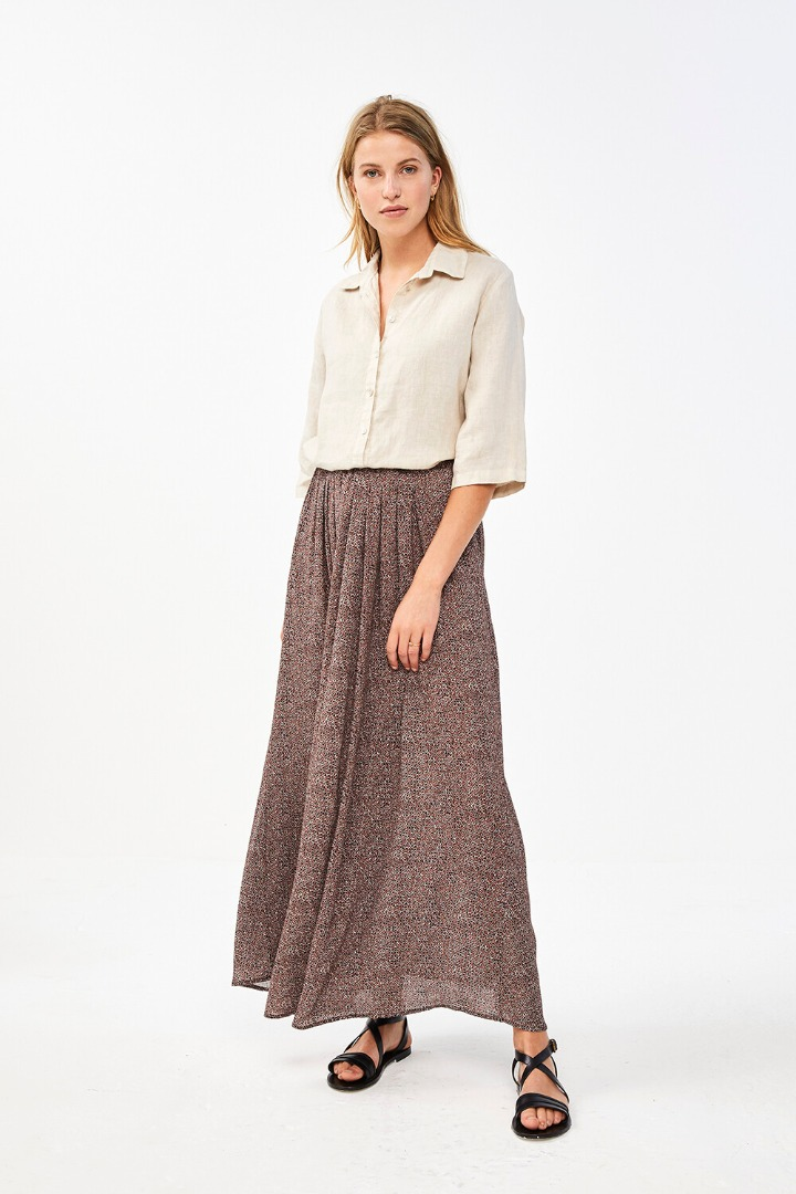 by-bar lien manilla skirt - brownie